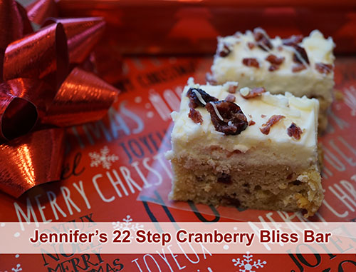 This is the best copycat Starbucks Cranberry Bliss Bar Recipe. Not too sweet, with lots of cream cheese--delicious!